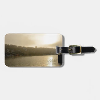 Foggy Whitby morning Luggage Tag