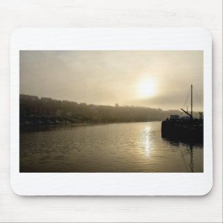 Foggy Whitby morning Mouse Pad