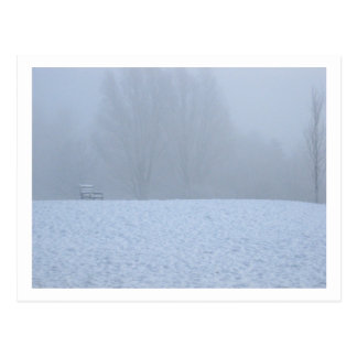 Foggy winter postcard