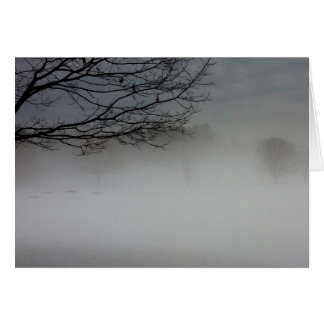 Foggy winter's morning in February Card