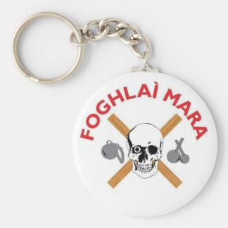 Foghlai Mara Keychain, White Basic Round Button Keychain