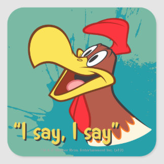 Foghorn Looking Up Square Sticker
