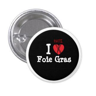 Foie gras? NOT thank you! 1 Inch Round Button