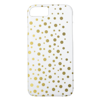 Foil Confetti Gold Pattern iPhone 7 Case