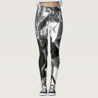 Foil Me Once Silver Leggings