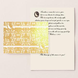 Foil Moon and Stars Samhain Night Original Poetry Foil Card