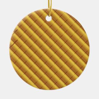 foil pattern ceramic ornament