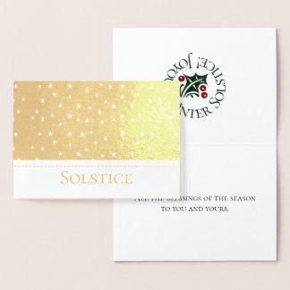 Foil Solstice Stars Design No.1 Pagan, Witch Foil Card