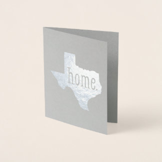 Foil Texas State Home Greeting Card