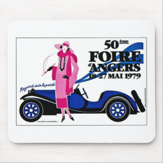 Foire d'Angers - Vintage French Advertisement Mouse Pads
