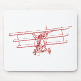 Fokker DR1 Red Baron Mouse Pad