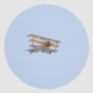 Fokker Tri-plane - Replica Of Red Baron Classic Round Sticker