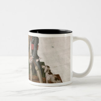 Fol.55 Country Folk and the Money Changer Two-Tone Coffee Mug