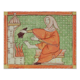 Fol.58r February: Warming by the Fire Poster