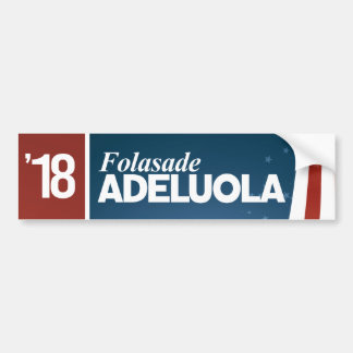 Folasade Adeluola for Senate Bumper Sticker