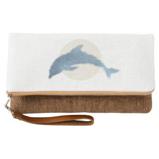 Fold Over Clutch - Dolphin Print