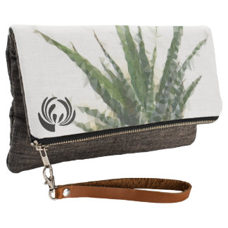 Fold over Clutch Geometric Succulent