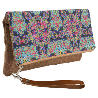 "Fold-over Clutch ""Mexicana"" by MAR"