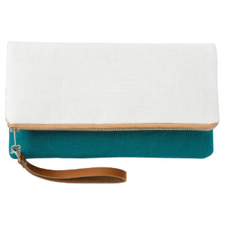 Fold-over Clutch, Teal Clutch