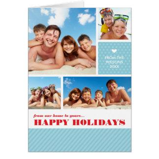FOLDED 4 PHOTO CHRISTMAS CARD :: multi photo 3