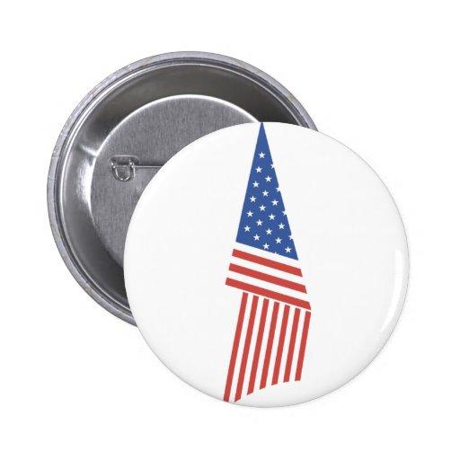 Folded American Flag Pins