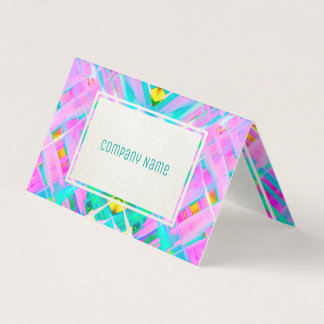 Folded Business Card Colorful digital art G473