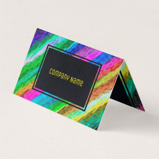 Folded Business Card Colorful digital art G478