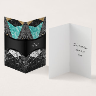 Folded Card Marble Geometric G430