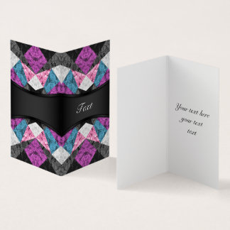 Folded Card Marble Geometric G438