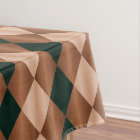 Folded Harlequin,Brown-Black-52x70 TABLECLOTH