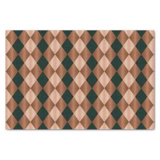 Folded Harlequin, Brown-Black-TISSUE WRAP PAPER