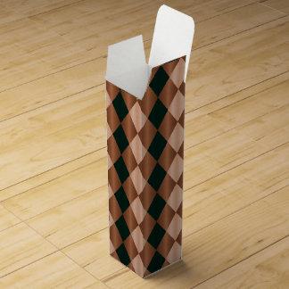 Folded Harlequin,Brown-Black-WINE  GIFT BOX Wine Gift Boxes