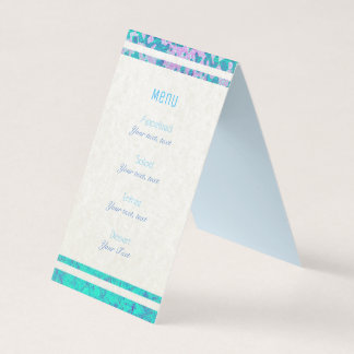 Folded Menu Card Glitter Star Dust