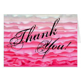 Folded Thank You Card Ombre Stripe Pink Frosting