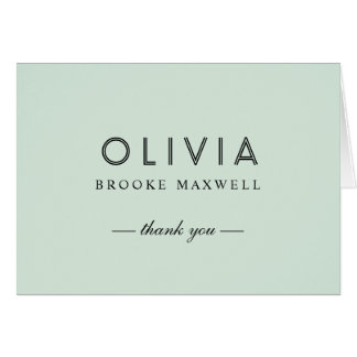 Folded Thank You Note Cards | Mint Green