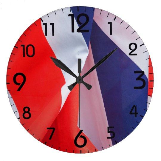 Folded Union Jack UK Flag Clocks