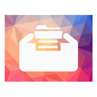 Folder Inserts Pictograph Postcard