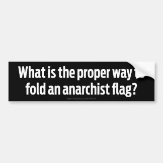 Folding Anarchist Flags Bumper Sticker
