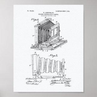 Folding Camera 1904 Patent Art - White Paper Poster