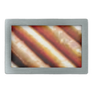 folds of copper rectangular belt buckle