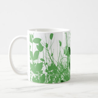 Foliage 3 Shades Green Classic White Coffee Mug