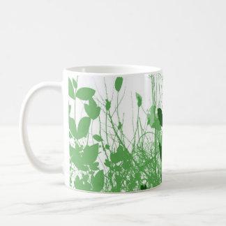 Foliage 3 Shades Green Basic White Mug