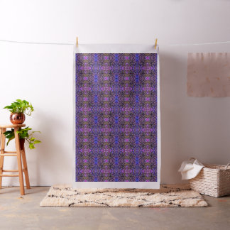 Foliage Abstract In Blue, Pink and Sienna Fabric