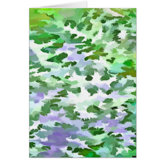 Foliage Abstract In Green and Mauve Card