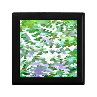 Foliage Abstract In Green and Mauve Gift Box