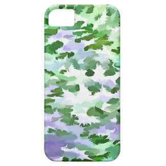 Foliage Abstract In Green and Mauve iPhone 5 Cases