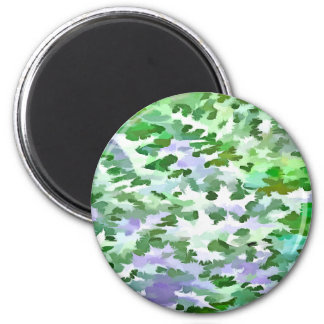 Foliage Abstract In Green and Mauve Magnet