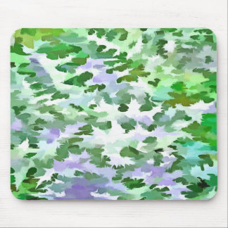 Foliage Abstract In Green and Mauve Mouse Pad