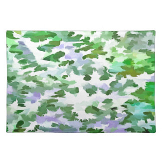 Foliage Abstract In Green and Mauve Placemat