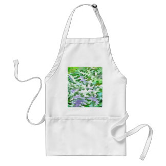 Foliage Abstract In Green and Mauve Standard Apron